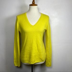 Charter Club V-Neck Cashmere Sweater Yellow